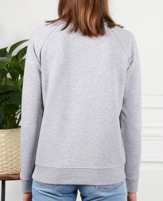 Sweatshirt femme Couple brodé dans le dos personnalisé