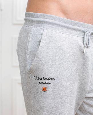 Jogging homme Message et picto brodés personnalisé
