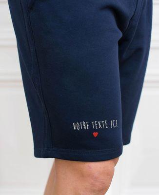 Short homme Petit coeur brodé personnalisé