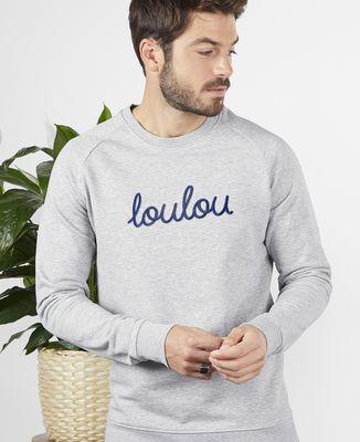 Sweatshirt homme Loulou (grosse broderie)