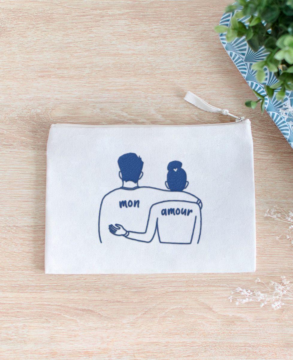 Pochette Couple mon amour (brodé)