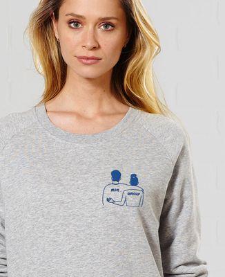 Sweatshirt femme Couple mon amour (brodé)