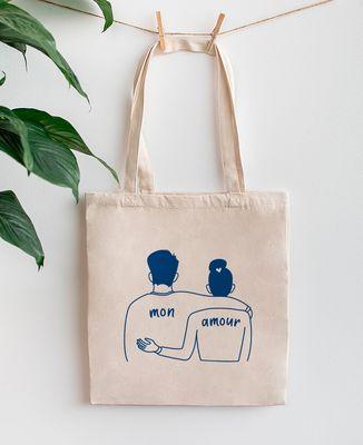 Tote bag Couple mon amour (brodé)
