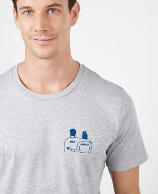T-Shirt homme Couple mon amour (brodé)