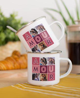 Mug Amour et photos personnalisé