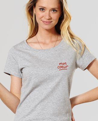 T-Shirt femme Mon coeur (brodé)