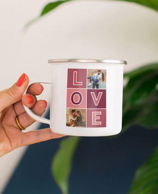 Mug Love et photos personnalisé