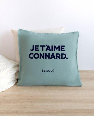 Coussin Je t'aime Connard