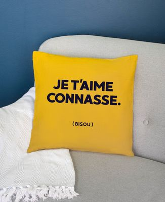 Coussin Je t'aime Connasse