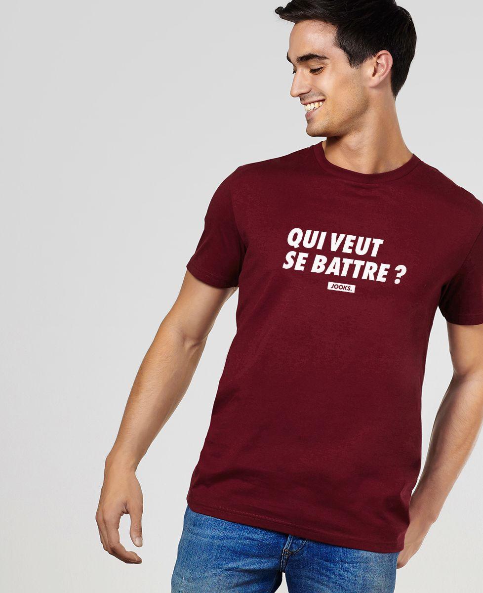 T-Shirt homme Qui veut se battre ?