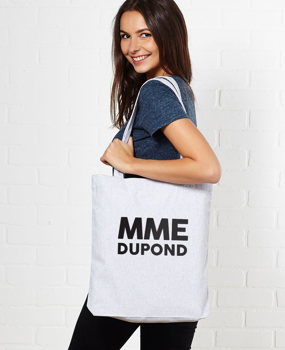 Tote bag Madame MME personnalisé