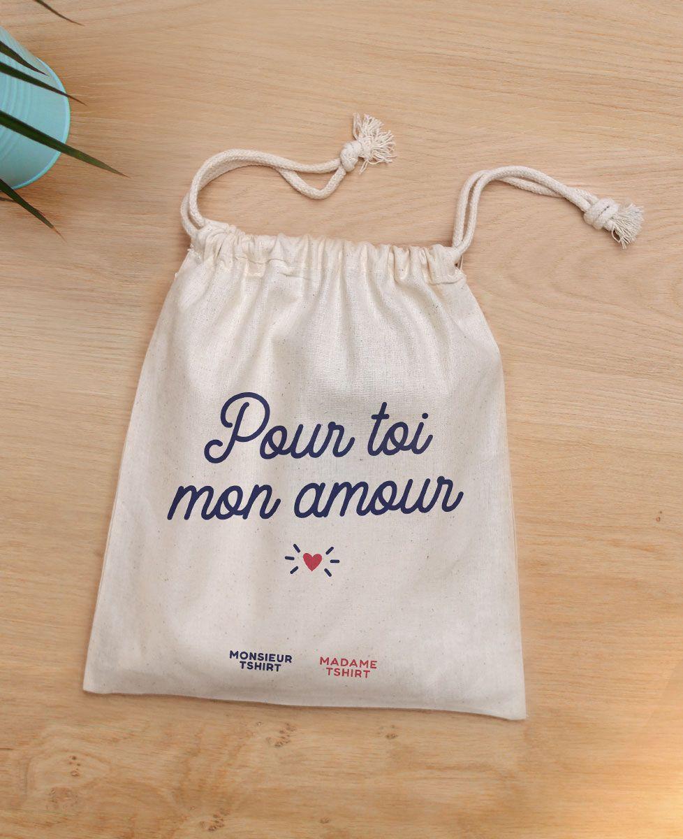 Coffret Culotte Je m'en foufoune (brodé à l'avant) + Chaussettes Coeur (brodé)