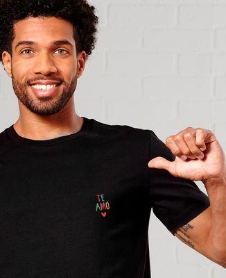 T-Shirt homme te amo multicolore