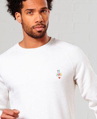 Sweatshirt homme te amo multicolore
