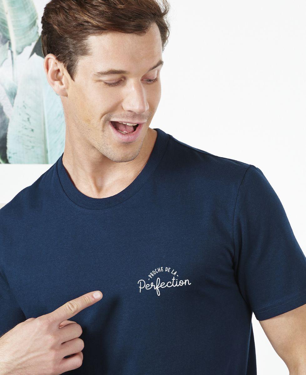 T-Shirt homme Proche de la perfection (brodé)