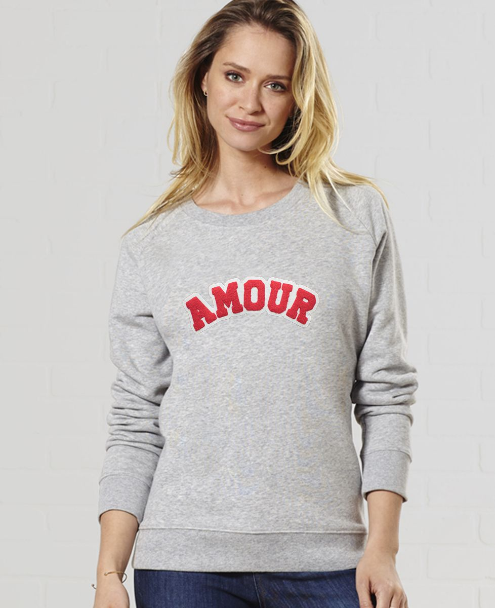 Sweatshirt femme Amour (effet bouclette)
