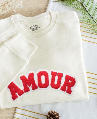 Sweatshirt homme Amour (effet bouclette)