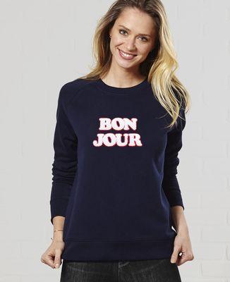 Sweatshirt femme Bonjour (effet bouclette)