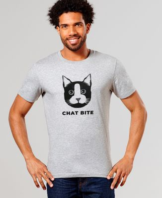 T-Shirt homme Chat bite