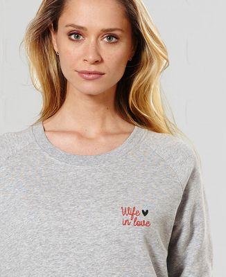 Sweatshirt femme Wife in love