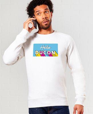 Sweatshirt homme Hello ducon