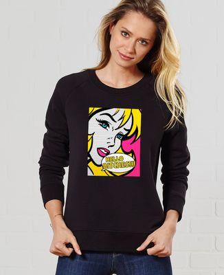 Sweatshirt femme Hello Bitches