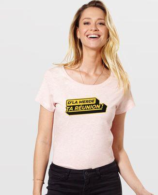 T-Shirt femme D'la merde ta réunion