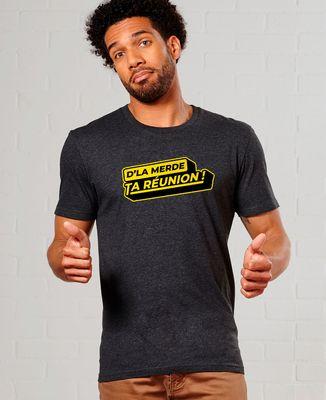 T-Shirt homme D'la merde ta réunion