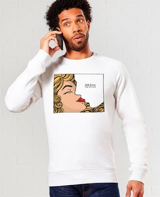 Sweatshirt homme Retro kiss with white stroke