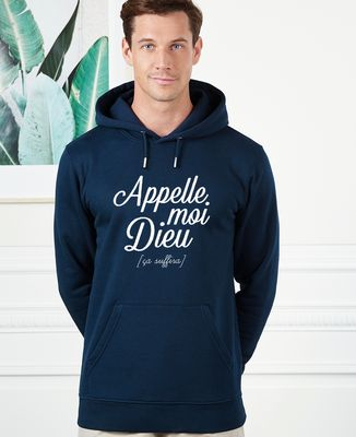 Hoodie homme Appelle moi Dieu
