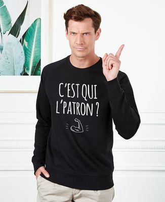 Sweatshirt homme C'est qui l'patron ?