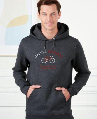 Hoodie homme Descente à vélo
