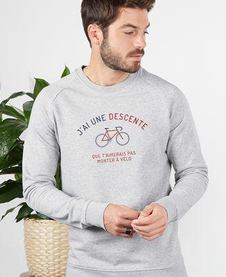 Sweatshirt homme Descente à vélo