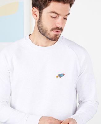 Sweatshirt homme Fusée (brodé)