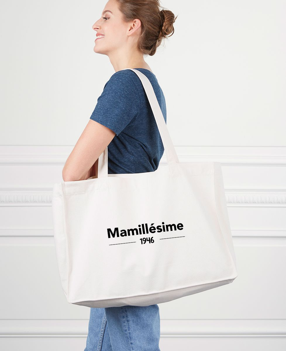 Maxi totebag Mamillesime personnalisé