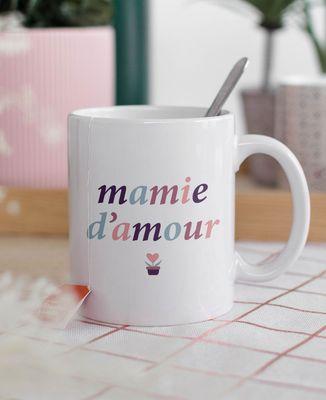 Mug Mamie multicolore personnalisé