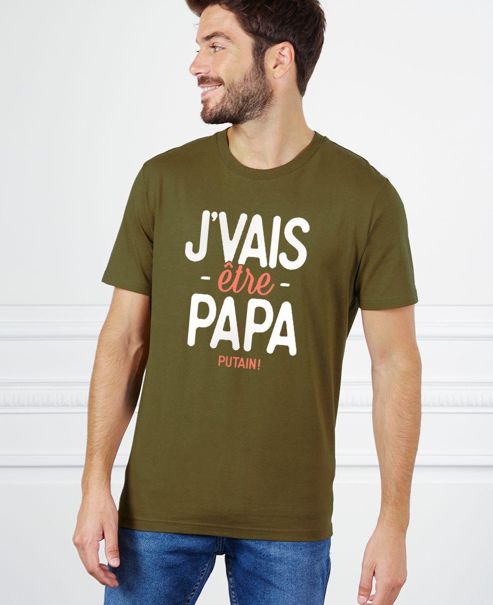 T-Shirt homme J'vais être papa putain !