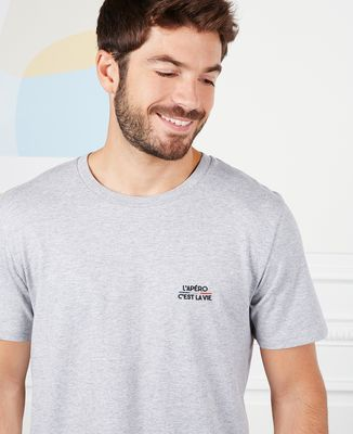 T-Shirt homme L'apéro c'est la vie (brodé)