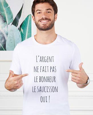 T-Shirt homme L'argent ne fait pas le bonheur
