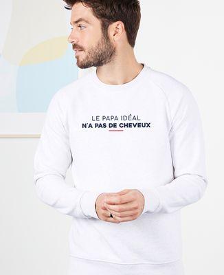 Sweatshirt homme Le papa idéal n'a pas de cheveux