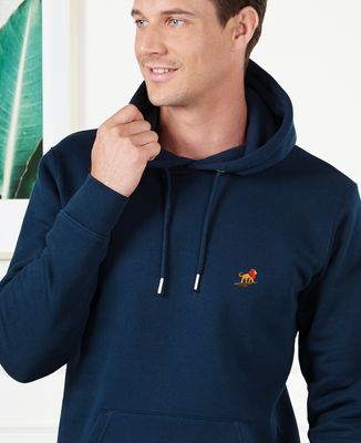 Hoodie homme Lion rocher (brodé)