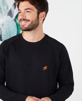 Sweatshirt homme Lion rocher (brodé)
