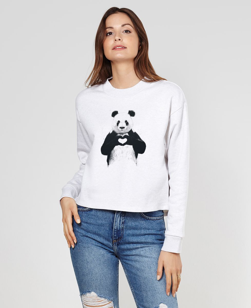 Sweatshirt femme All you need is love