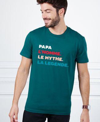 T-Shirt homme Papa l'homme le mythe la légende