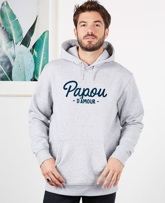 Hoodie homme Papou d'amour