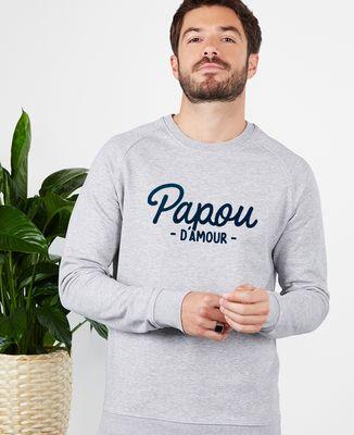 Sweatshirt homme Papou d'amour