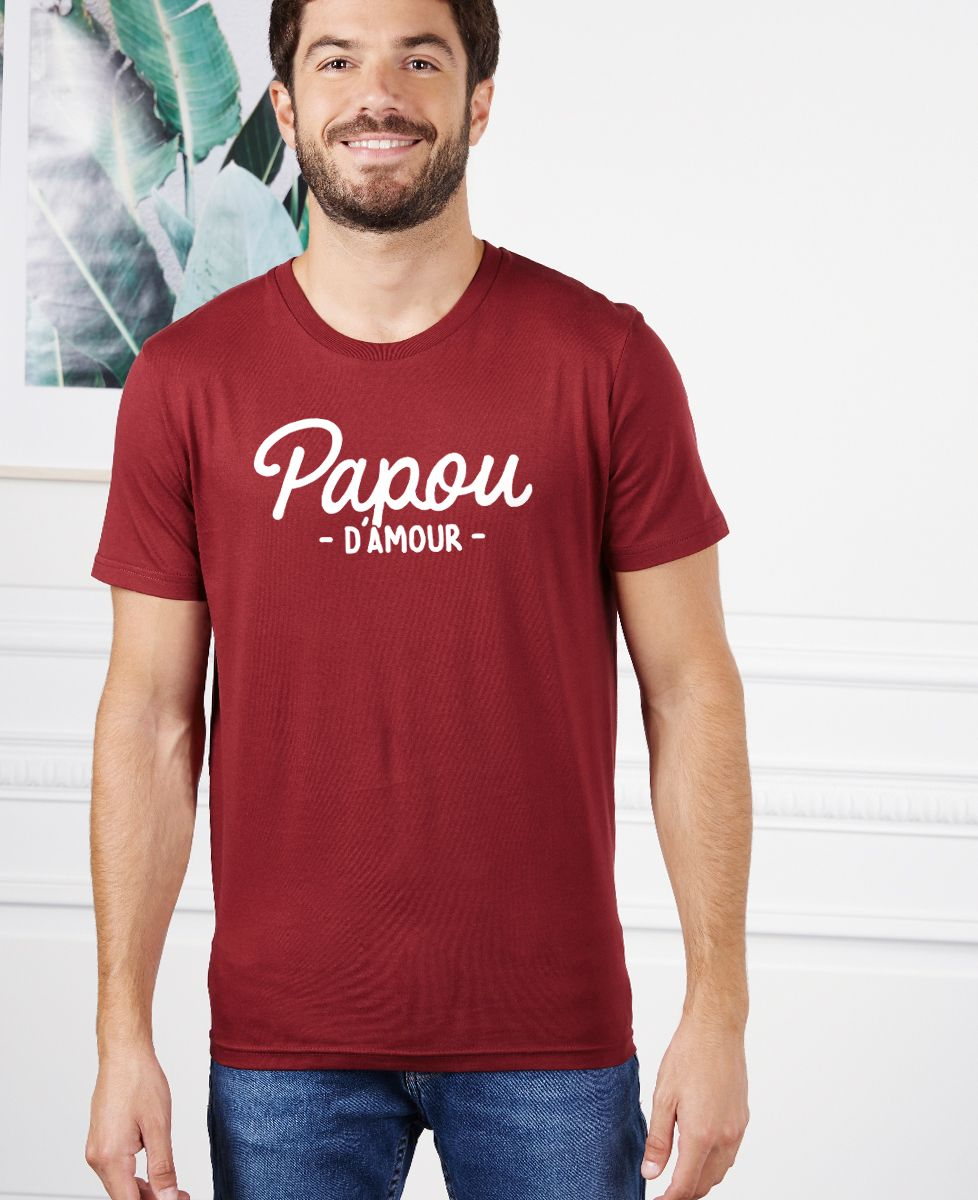 T-Shirt homme Papou d'amour
