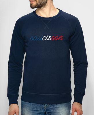 Sweatshirt homme Saucisson tricolore