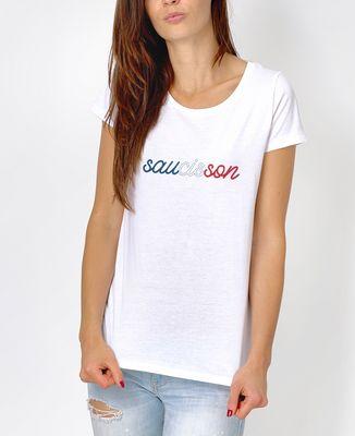 T-Shirt femme Saucisson tricolore