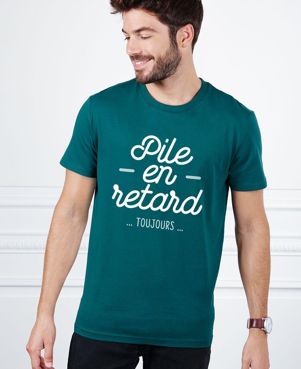 T-Shirt homme Pile en retard